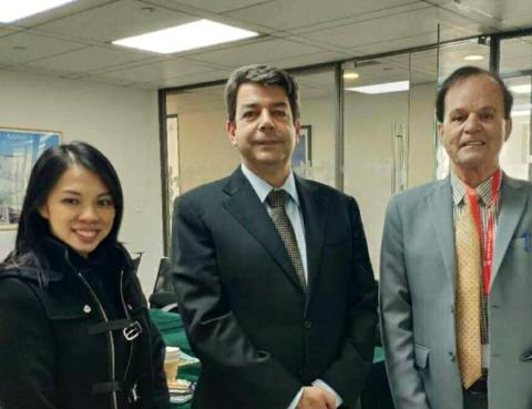 Brazil desk with new Brazil Consul General, Mr. Pedro Murilo Ortega Terra (Middle)